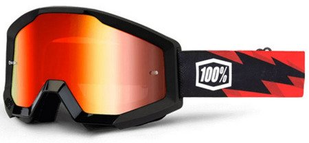 Gogle 100% STRATA Slash black red
